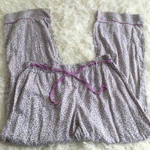 Large Victoria's Secret Leopard PJ Pants